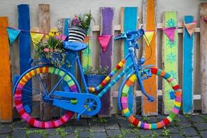 Umhäkeltes Fahrrad