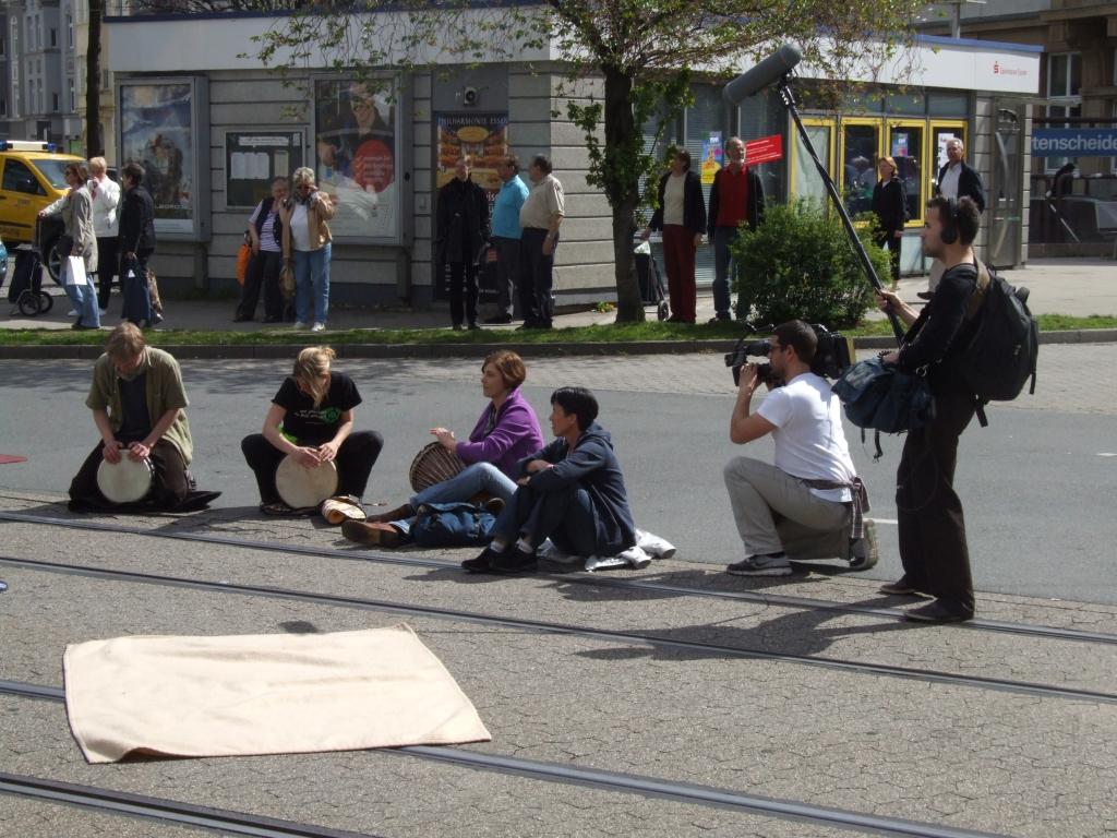 straßenaktion flashmob